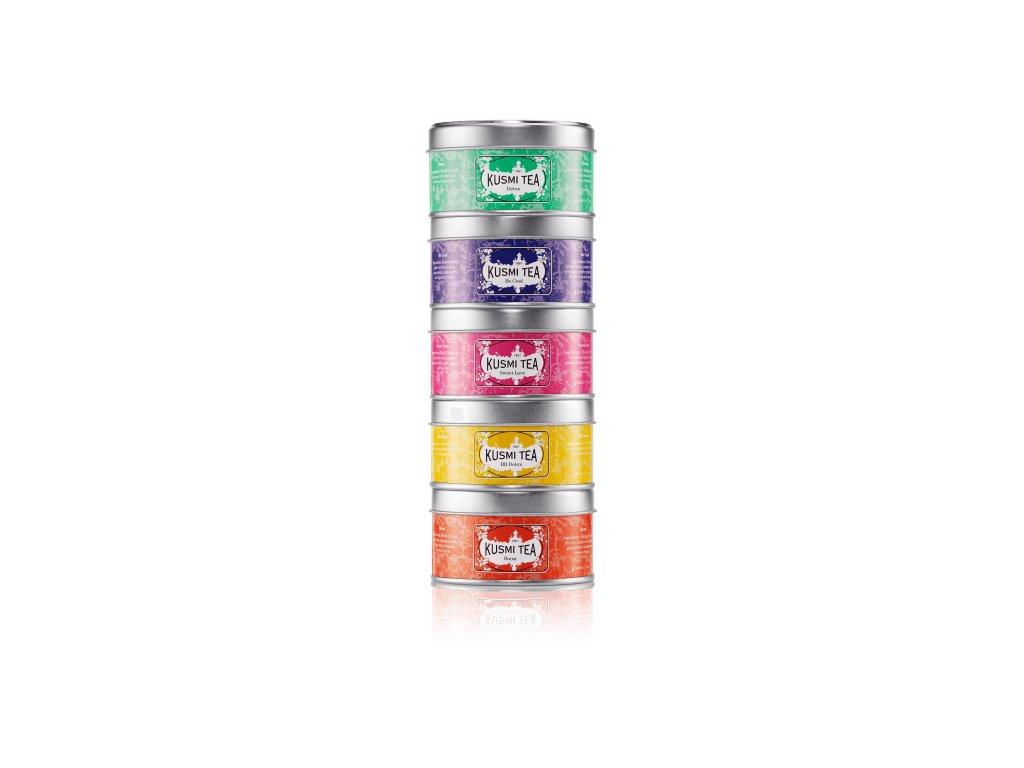 Kusmi Tea Wellness Teas selection, směs 5 x 20/25 g