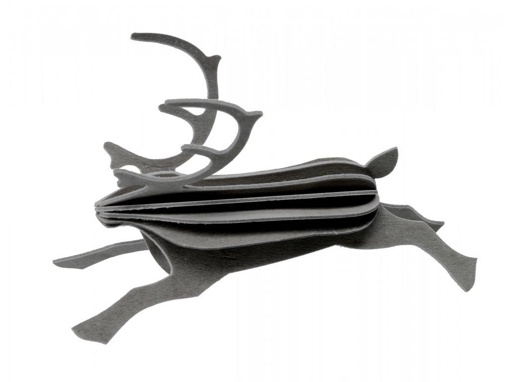 Reindeer 12 cm grey