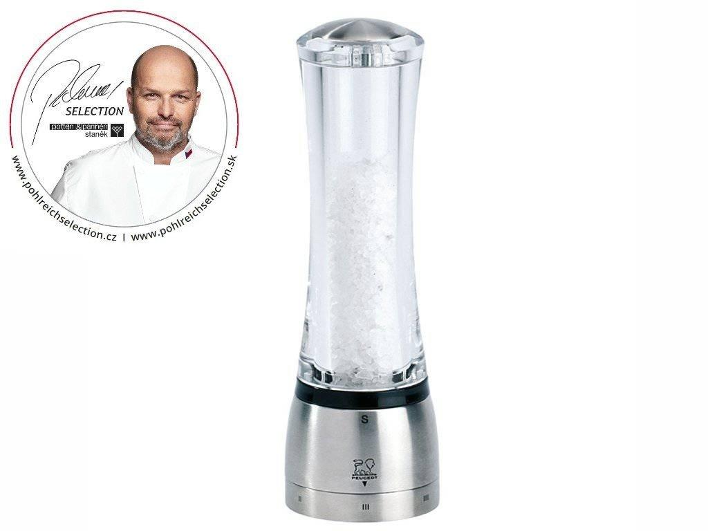 PEUGEOT DAMAN mlýnek na sůl 21 cm akryl/nerez