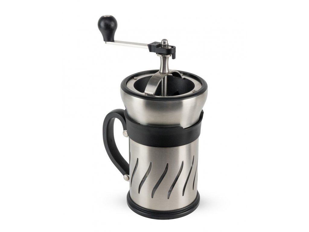 PEUGEOT PARIS french press s mlýnkem na zrnkovou kávu, 15 cm