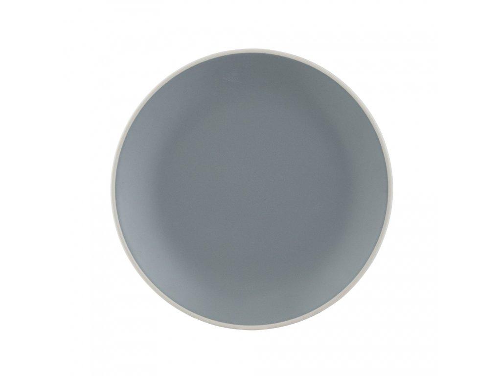 Classic šedý mělký talíř, 26,5 cm