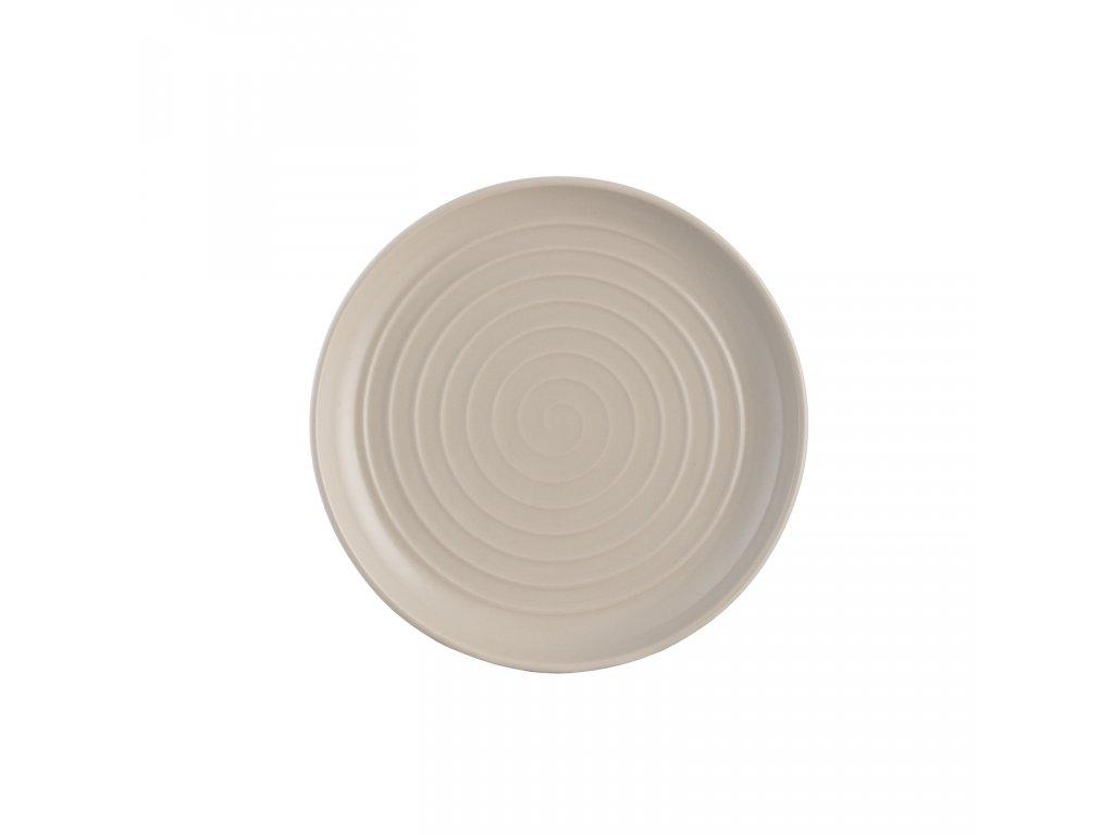 Spira taupe dezertní talíř, 20,5 cm