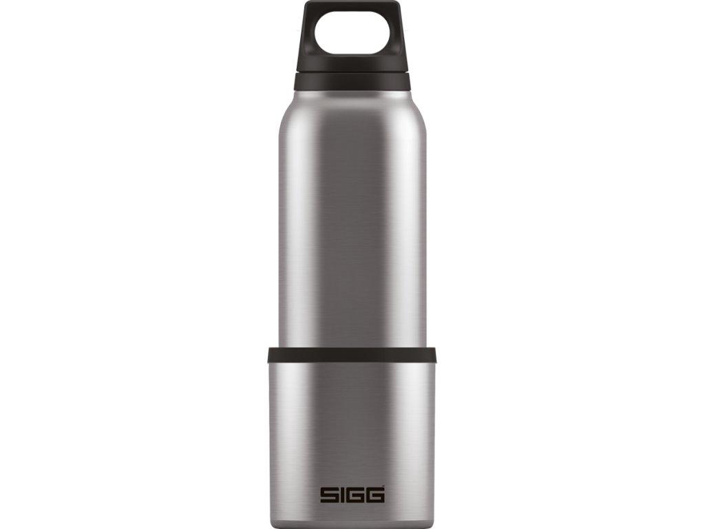 SIGG Hot & Cold Termoska Classic, stříbrná s pohárem, 0,5 l