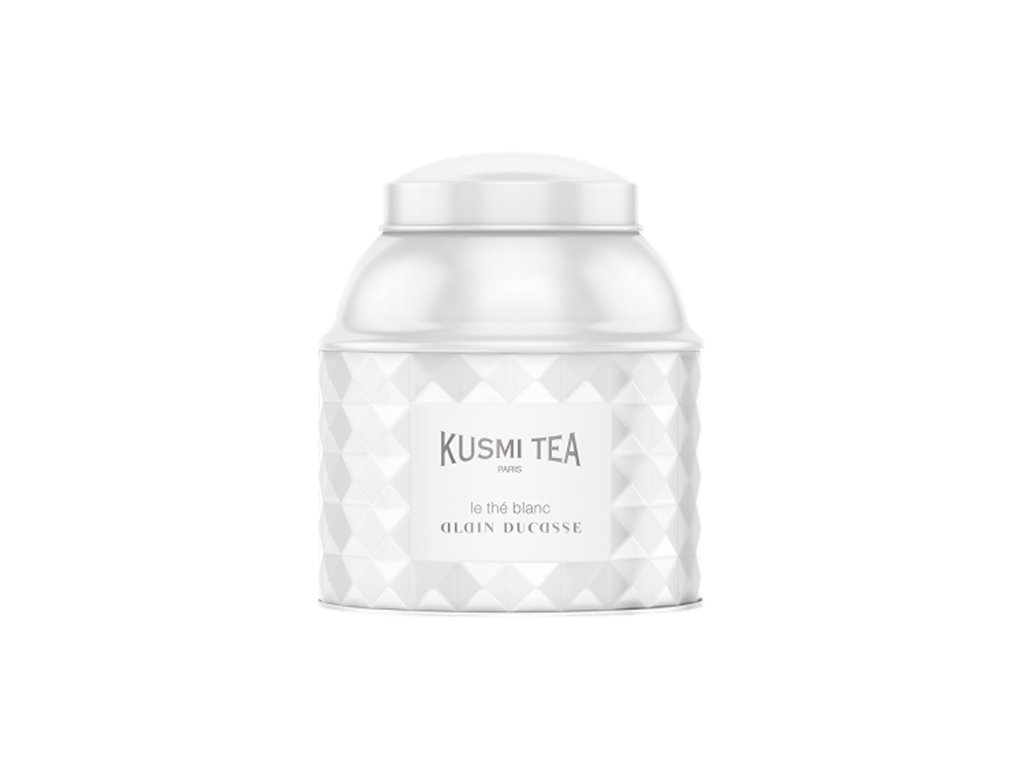 Kusmi Tea Bílý čaj Alain Ducasse, sypaný čaj v kovové dóze (120 g)