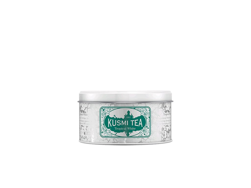 Kusmi Tea Tropical White, sypaný čaj v kovové dóze (90 g)