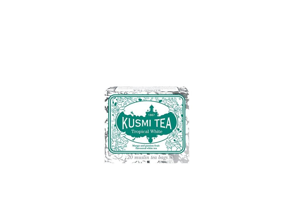 Kusmi Tea Tropical White, 20 mušelínových sáčků (36 g)
