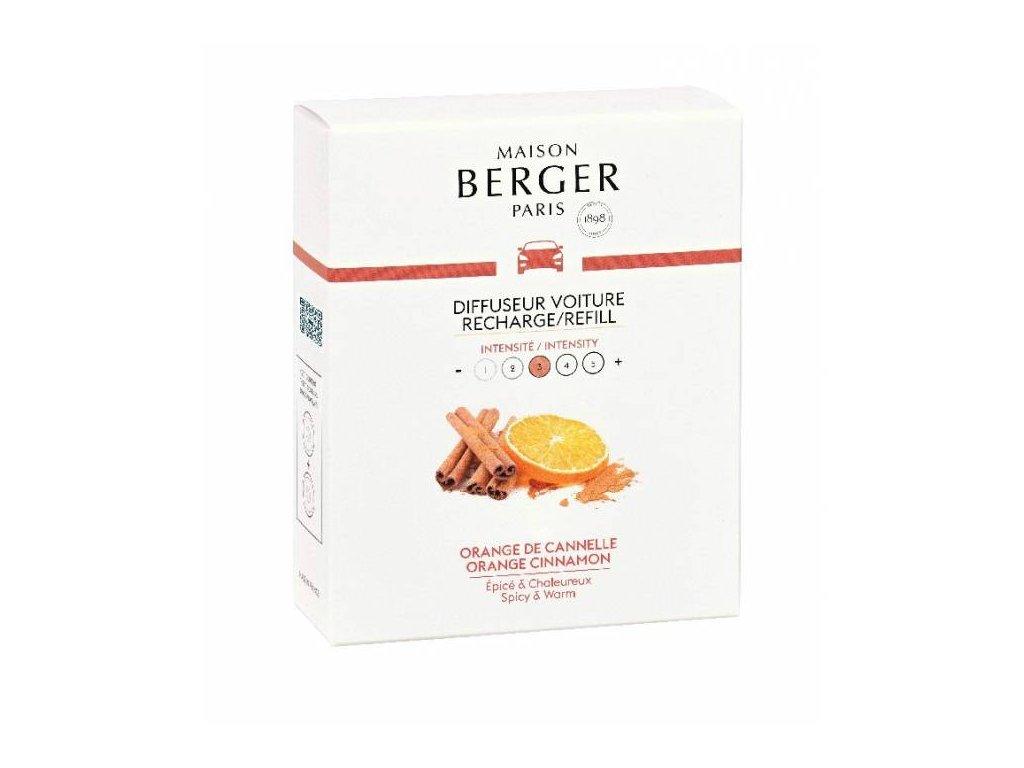 BERGER CAR náplň 2x Pomeranč a skořice