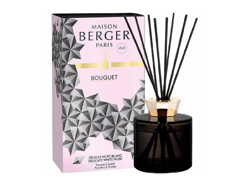 BERGER C22020 Black Crystal flakon s difuzérem černý + Bílé pižmo 180ml