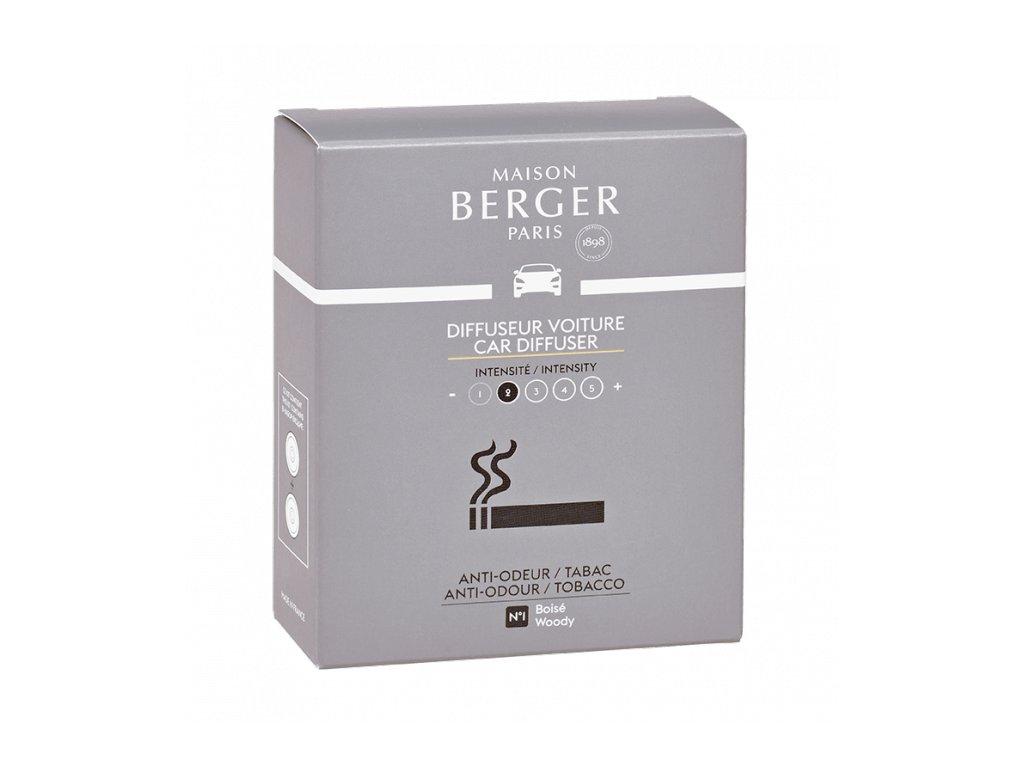 BERGER CAR Functional 2 náhr. náplně for Tobacco / Antiodour tabák