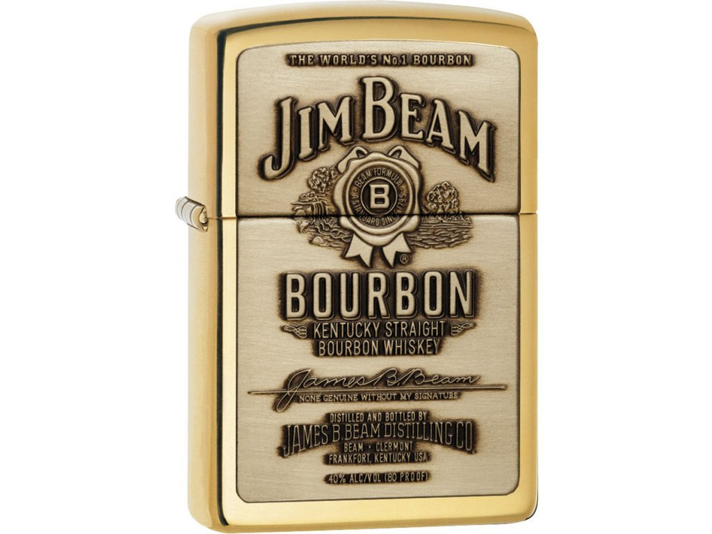 Zapalovač Zippo 23156 Jim Beam Brass Emblem