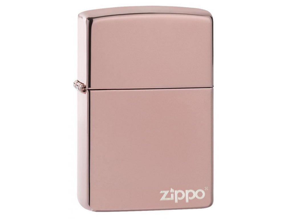 Zapalovač Zippo 26908 High Polish Rose Gold Zippo Logo