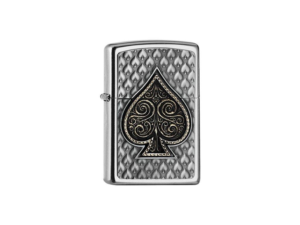 Zapalovač Zippo 25541 Spades Emblem 3D