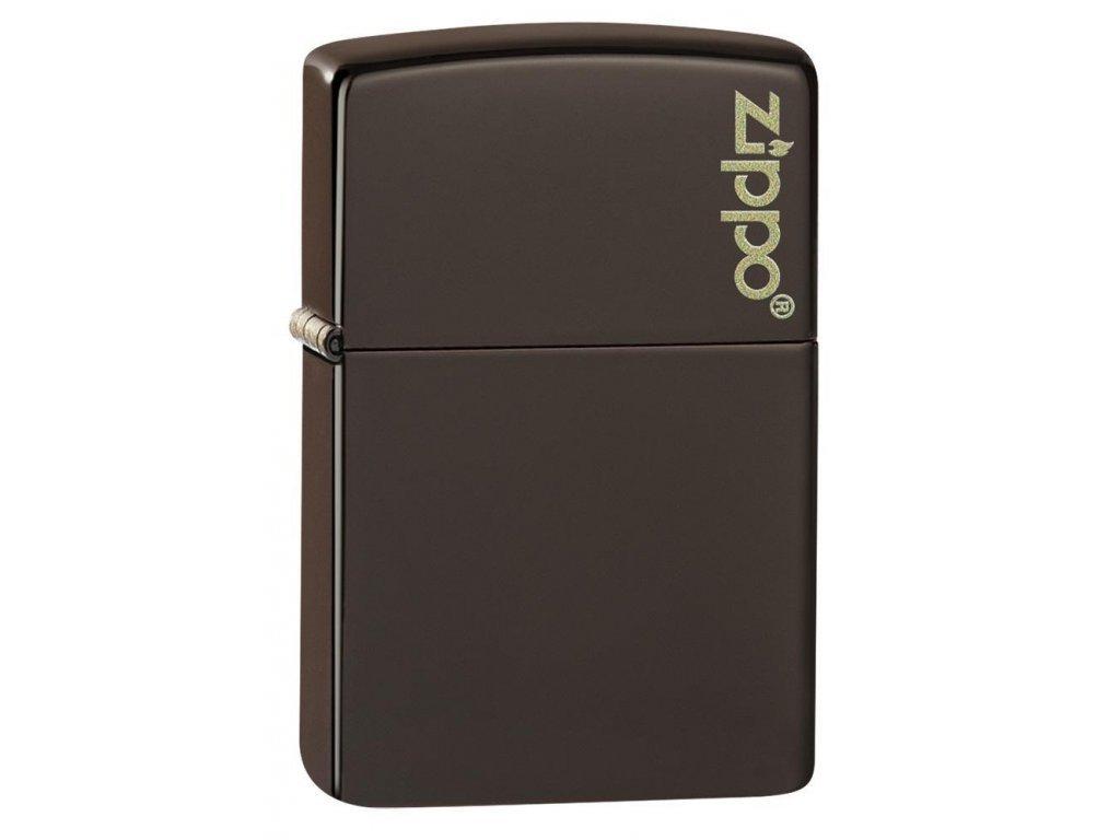 Zapalovač Zippo 26911 Brown Zippo Logo