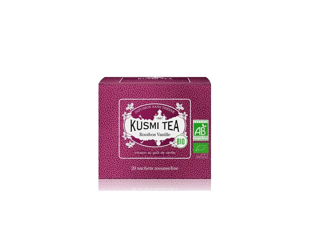 Sypaný bio organický bylinný čaj Kusmi Tea Vanilkový Rooibos, 20 sáčků