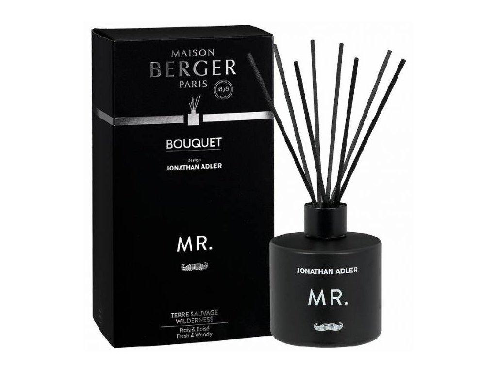 BERGER J. Adler Mr. Terre Sauvage / Divočina difuzér s náplní 180ml černý