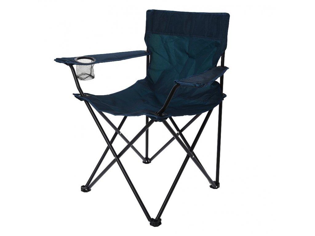 Židle campingová REDCLIFFS skládací tmavá modrá