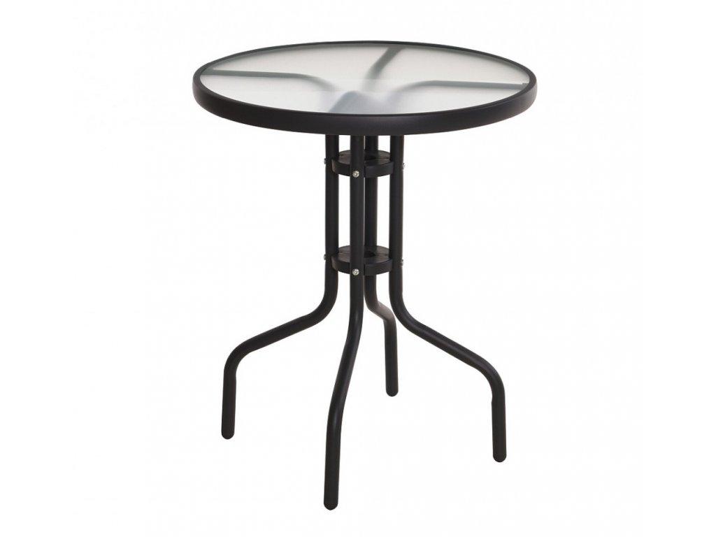 Zahradní stůl kov / sklo 60 x 70 cm Progarden KO-X60000150