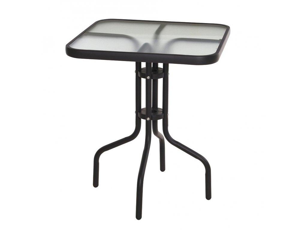 Zahradní stůl kov / sklo 60 x 60 x 70 cm Progarden KO-X60000160
