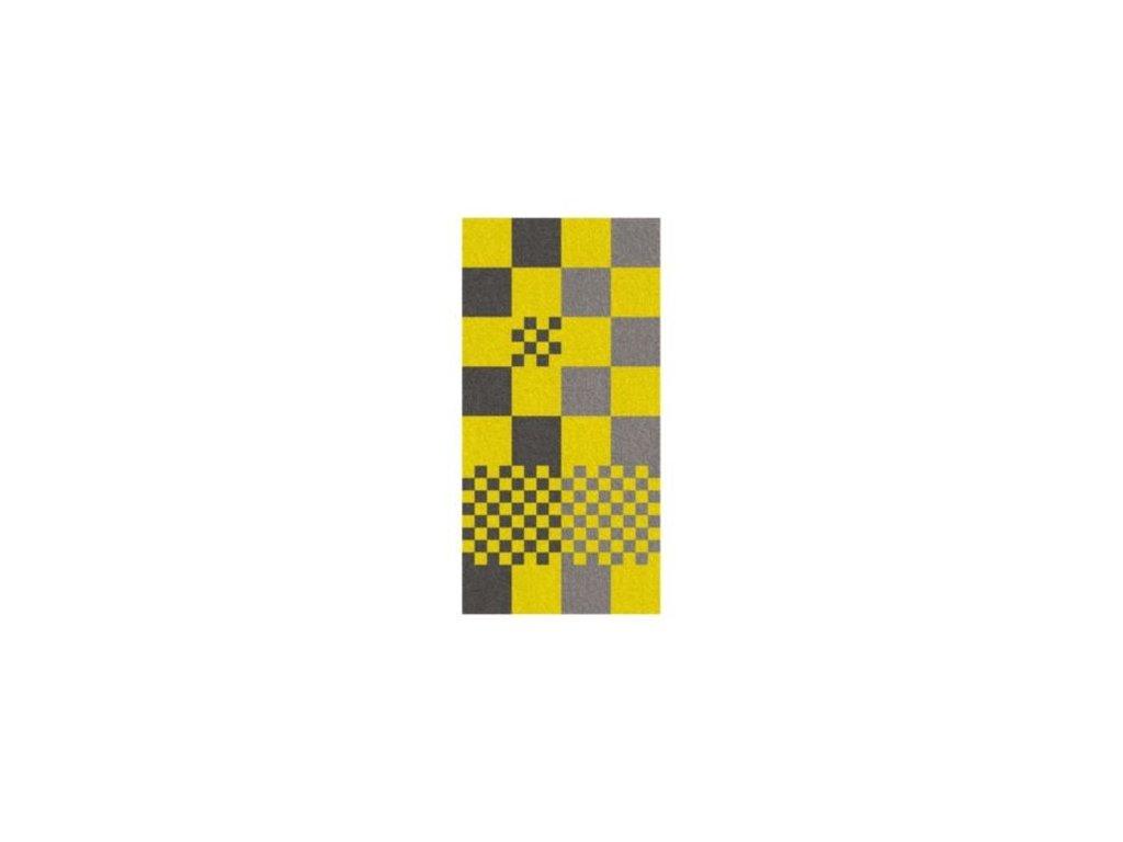 Osuška LADESSA, 100% bavlna, žlutá kostka 70x140cm KELA KL-22184