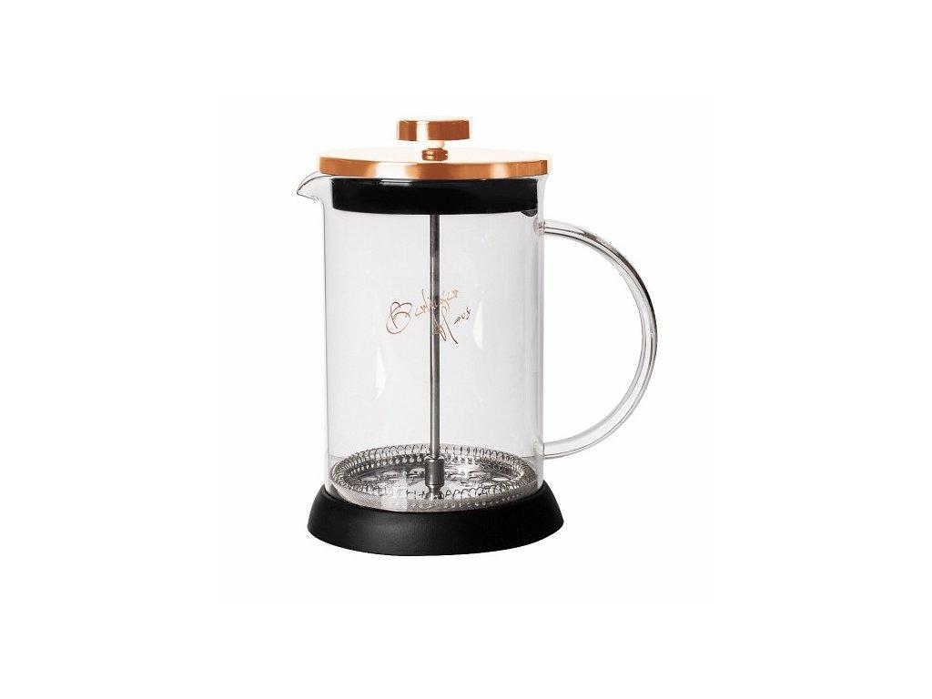 Konvička na čaj a kávu French Press 350 ml Rosegold collection BERLINGERHAUS BH-1493