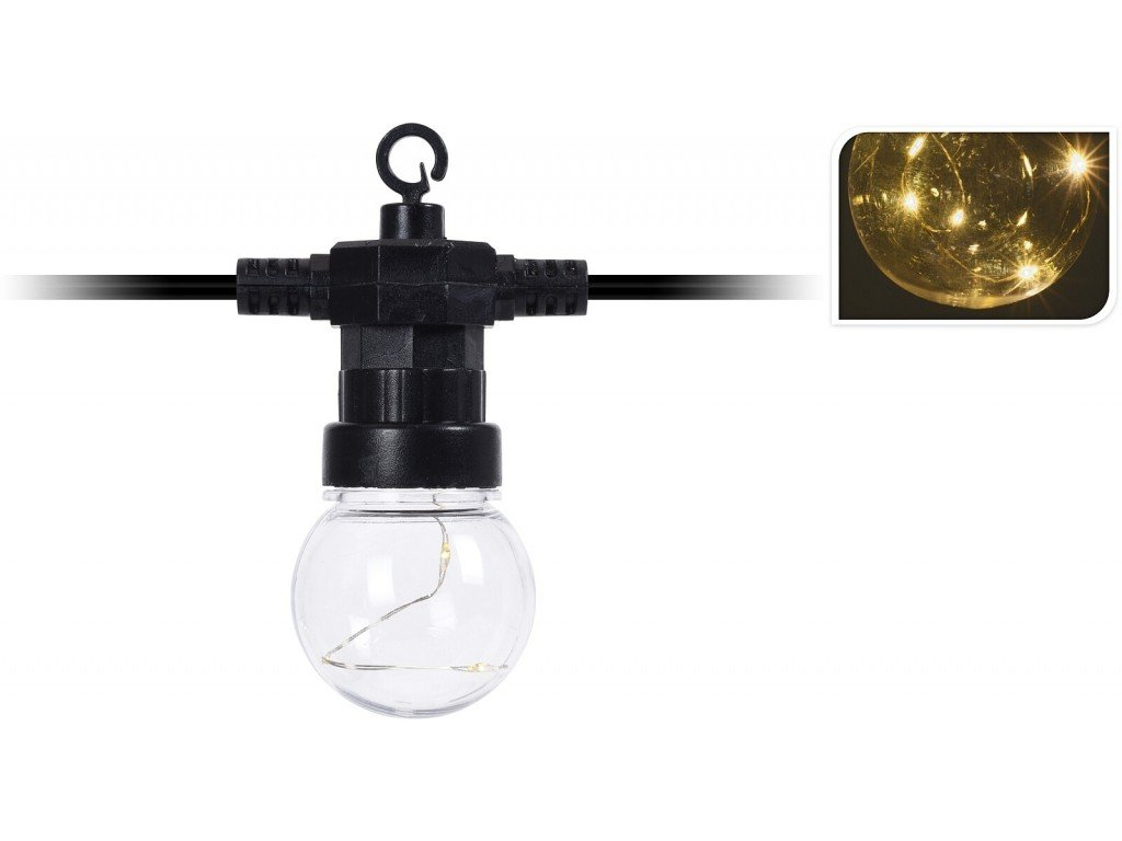 Světelný řetěz LED PARTY venkovní 20 žárovek