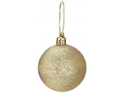 Zlaté vánoční koule Jumi B-368026, 6 cm, 6 kusů