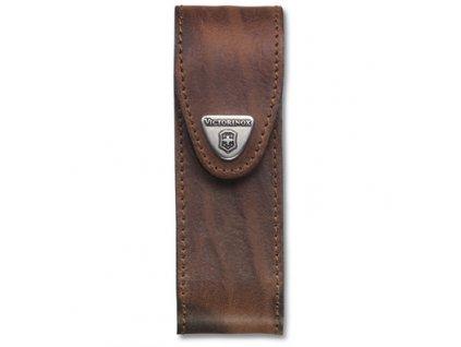 Hnědé kožené pouzdro na nože 111mm (4.0547)
