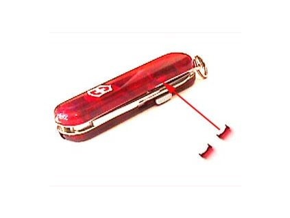 Victorinox krytka na baterii, průhledná červená