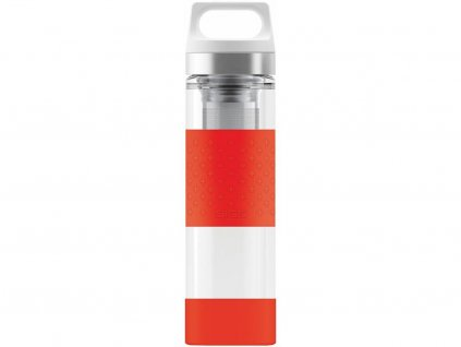 Termoska Sigg Hot & Cold Glass WMB 0,4 l, červená