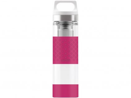 Skleněná termoska SIGG HOT & COlD GLASS WMB BERRY, 0,4 l