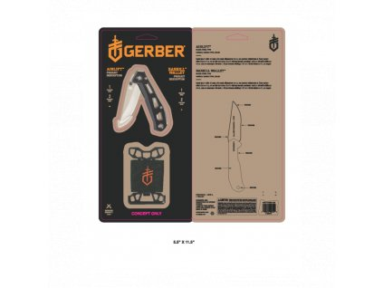 Gerber set Airlift Black + Barbill Wallet Black