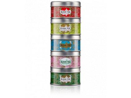 Kusmi Tea Selection Green Teas, 5 x 25 g