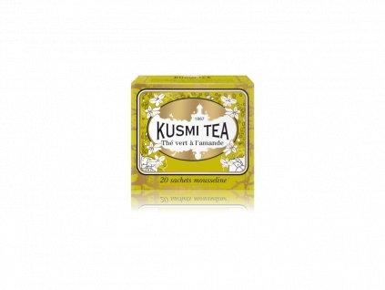 Kusmi Tea Almond Green Tea, 20 mušelínových sáčků 44g
