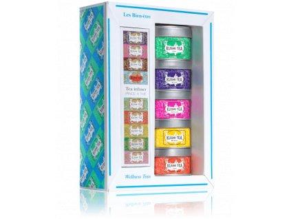Kusmi Tea Wellness Teas dárkový set se sítkem, 5 x 20/25 g