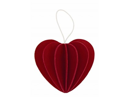 srdce tmave cervene