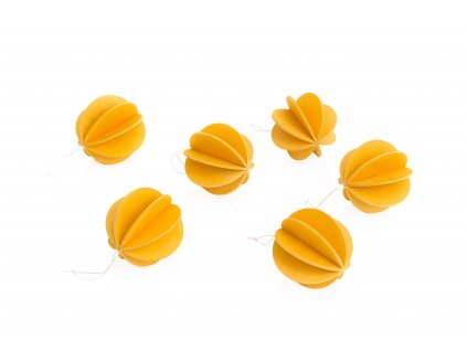 kulate ozdobicky 7 zlutooranzove