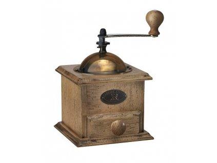 PEUGEOT ANTIQUE mlýnek na kávu 21 cm bukové dřevo/patina
