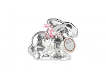 Forma Nordic Ware Jarní králíček - 3 cup stříbrná