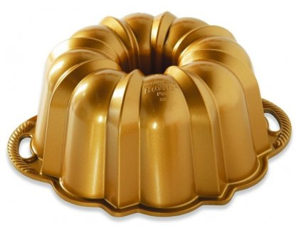 Bábovka Nordic Ware Anniversary velká 12cup zlatá