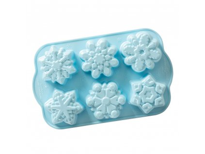 Nordic Ware Frozen forma na mini bábovky Sněhové vločky 6ks