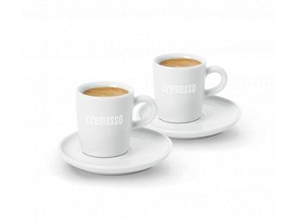 Cremesso set 2 šálků na espresso s podšálky