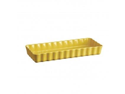 Emile Henry obdélníková koláčová forma, 15 x 36 cm, žlutá Provence
