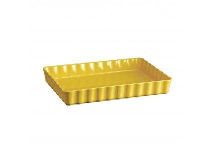 Emile Henry obdélníková koláčová forma, 24 x 34 cm, žlutá Provence