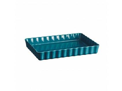 Emile Henry obdélníková koláčová forma, 24 x 34 cm, modrá Calanque
