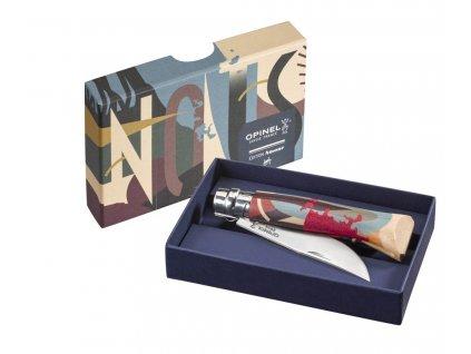 Zavírací nůž Opinel N°08, z kolekce Amour 2019, motiv by Franck Pellegrino