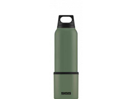 SIGG Hot & Cold Termoska Classic, zelená s pohárem, 0,75 l