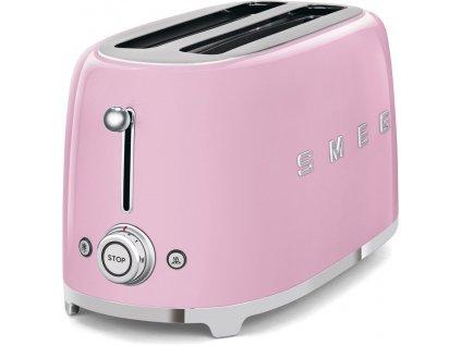 SMEG 50's Retro Style toustovač P2x2 růžový 1500W