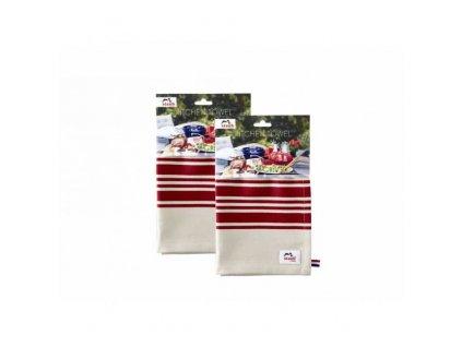 Bavlněná kuchyňská utěrka STAUB, červená, 2 ks
