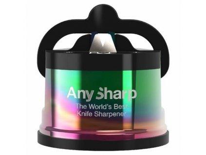 Brousek na nože AnySharp Pro, duhový (metalická barva)