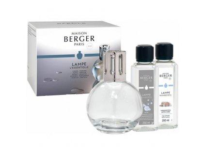 Maison Berger Paris dárková sada: katalytická lampa Essential Round + Bavlněná péče, 250 ml + So Neutral 250 ml